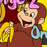 Curious George 2 Online Coloring Game