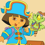 Dora the Pirate Online Coloring Game