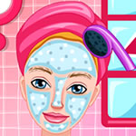 Princess Barbie Facial Makeover