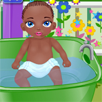 Baby Jamal Bathing