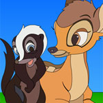 Bambi Flower Thumper Online Coloring Game